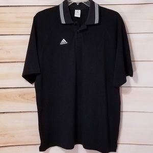 Adidas 2002 Black White Logo Collared Shirt Vintag